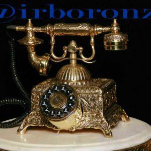 تلفن برنزی سنگین طرح قدیم
