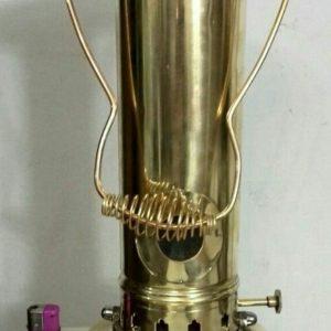 چراغ نفتی برنجی مدل لوله بلند