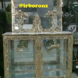 آینه شمعدان برنجی کمدی مدل سیمرغ