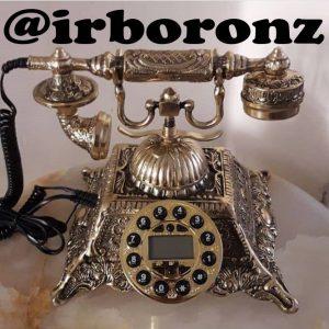 تلفن برنجی آیدی کالر دار