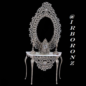آینه شمعدان برنزی مدل رز  پر کار