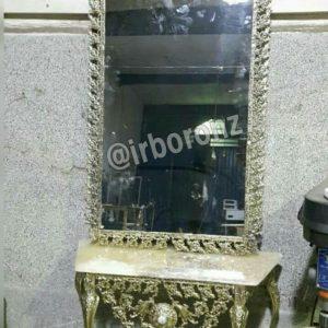 آینه شمعدان برنزی مدل یاس کج