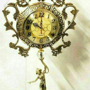 ساعت رومیزی برنزی مدل بانو