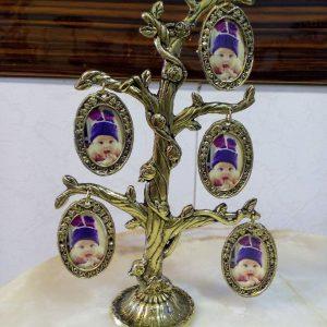 قاب عکس برنزی مدل شاخه دار کوچک