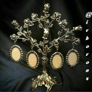 قاب عکس برنزی مدل چند شاخه
