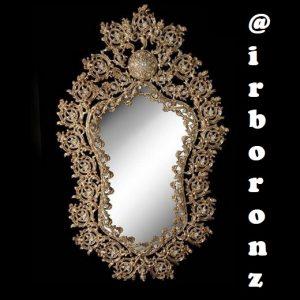 آینه تک برنزی مدل پرکار