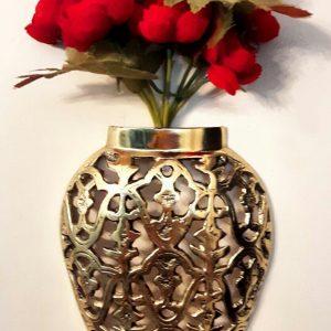 گلدان برنزی مدل  دیوار کوب