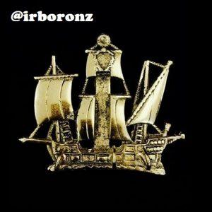 جا کلیدی برنزی مدل کشتی